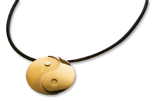 "Necklace ""Yin and Yang"" gilded, 925 Sterling silver"