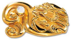 """Chinesisches Tierkreiszeichen """"Drache"""" mit Glücksstein Opal, Collier"""