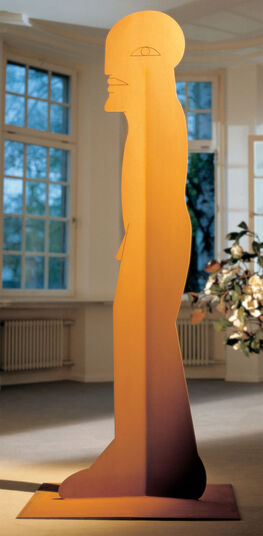 "Horst Antes: Steel sculpture ""Figure 1000"""