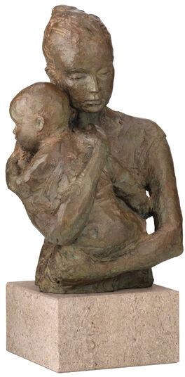 """Valerie Otte: Skulptur """"Geborgenheit"""" (Version mit Sockel), Bronze"""