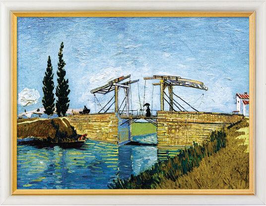 """Vincent van Gogh: Bild """"Die Zugbrücke"""" (1888), gerahmt"""