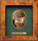"Miniatur-Porzellanbild ""Der arme Poet"" (1839), gerahmt"