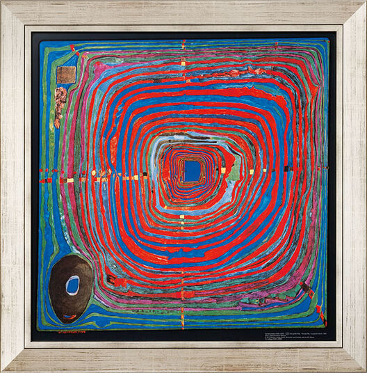 "Friedensreich Hundertwasser: Painting ""(224) The Big Way"""