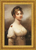 "Painting ""Louise, Queen of Prussia"" (1802) in gilded frame."