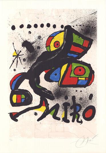 """Joan Miró: Bild """"Hommage à Gaudí"""" (1979), gerahmt"""