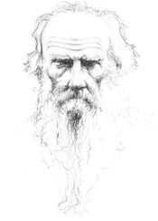 """Bild """"Lew Nikolajewitsch Tolstoi"""" (2010), ungerahmt"""