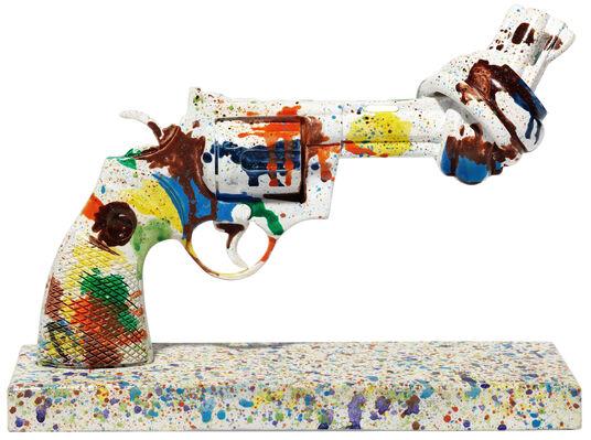 "Robin Söderling & Ernst Billgren: Skulptur Knotted Gun ""Tennis for Peace"""
