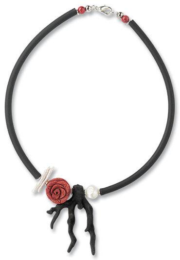 """Anna Mütz: Necklace """"Lava stone coral"""""""
