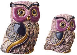 "2 Keramikfiguren ""Eulenmutter mit Jungem"" im Set"