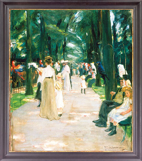 "Max Liebermann: Picture ""Parrot Alley in Amsterdam Zoo"" (1902)"