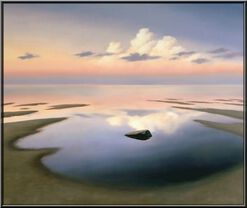 "Bild ""Abendlicher Strand V"" (2011) (Original / Unikat), gerahmt"