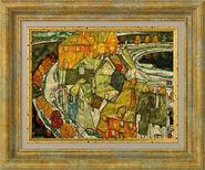 """Bild """"Der Häuserbogen"""" (1915), gerahmt"""