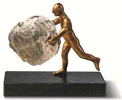 """Skulptur """"Nachrichtenüberbringer"""", Version in Metallguss"""