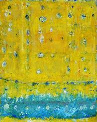 "Bild ""Gelb über Blau"" (2008) (Unikat)"