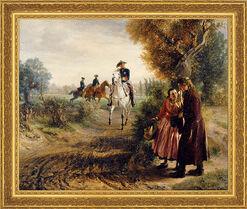"""Bild """"Die Bittschrift (Der Spazierritt)"""" (1849), gerahmt"""