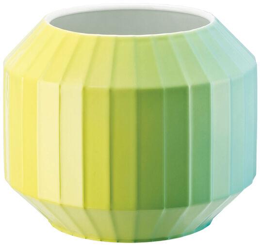 "Christine Rathmann: Porzellanvase ""Hot-Spots - Lime Flush"" (klein, Höhe 16 cm)"