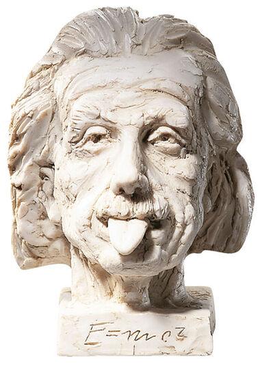 """J. Nemecek: """"Einstein-Kopf"""" (groß), Kunstmarmor"""