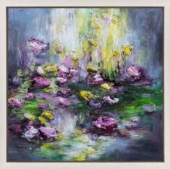 """Bild """"Blüten am Fluss IV"""" (2016) (Unikat)"""