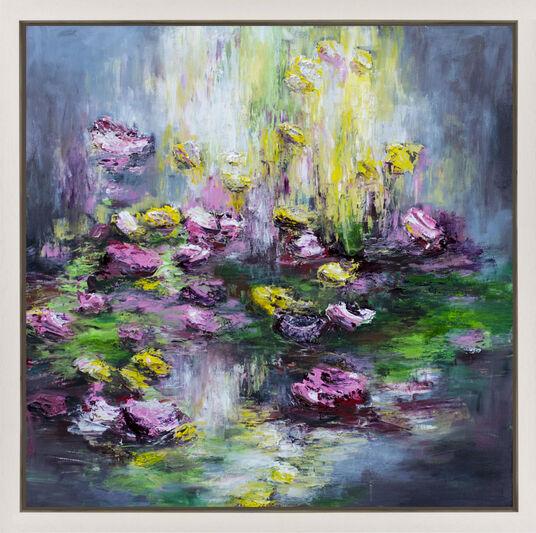 """Dagmar Vogt: Bild """"Blüten am Fluss IV"""" (2016) (Unikat)"""