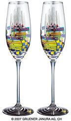 "(868A) Sektglas-Partnerset ""Pazifikdampfer"""