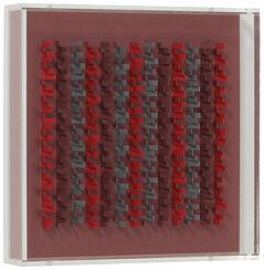"Bild ""Einzelgänger Grau gegen Rot"" (2007) (Unikat)"