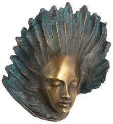 "Wall sculpture ""Angel"", version in bronze"
