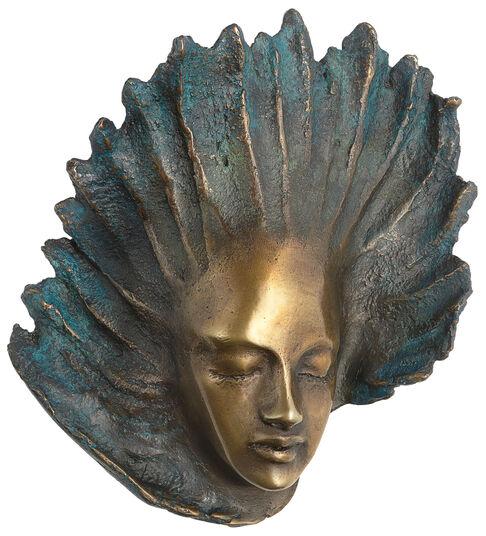 "Maria-Luise Bodirsky: Wandskulptur ""Engel"", Version in Bronze"