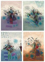 """4 Bilder """"Paradox"""" im Set"""