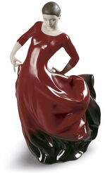 "Porzellanskulptur ""Flamenco"", handbemalt"