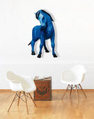 "Wandobjekt ""Das blaue Pferd"""