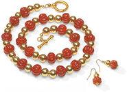 """Jewelry Set """"Carnelian"""""""