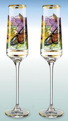 """2 Champagnerkelche """"Sonnenblume"""" im Set - nach Louis C. Tiffany"""