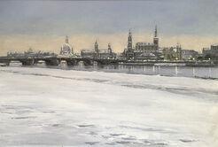"Bild ""Dresden - Winterabend"" (2016) (Unikat)"