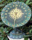 Renaissance Sundial on Classic Base, Bronze