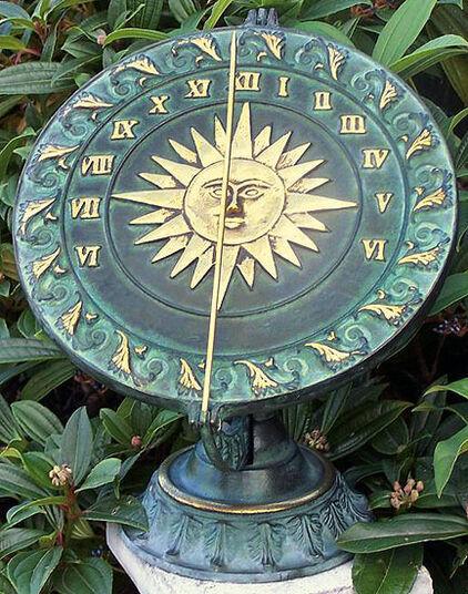 Renaissance Sundial on Classic Base, Bronze