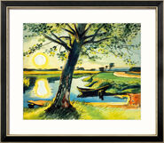 """Painting """"Morning on The Mill Ditch, Leba"""" (1935), Framed"""