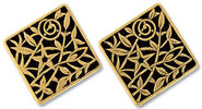"Earrings ""Bloom of Art Nouveau"" - after Gustav Klimt"