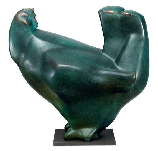 """Günter Grass: Sculpture """"Hen"""", Bronze"""