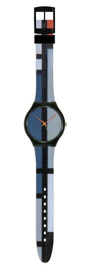 """Piet Mondrian: Armbanduhr """"Komposition in Rot, Blau, Schwarz und Gelb"""""""