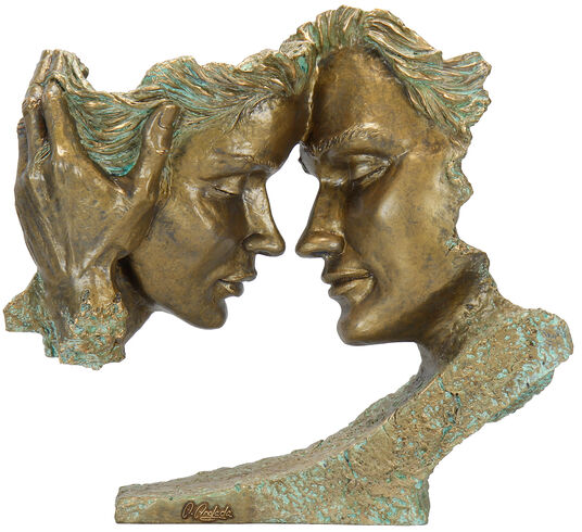 "Angeles Anglada: Skulptur ""Pretext"", Kunstguss Steinoptik"