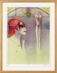 """Bild """"Dame in Betrachtung eines Jünglings"""" (2000)"""