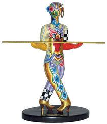 """Sternzeichen-Skulptur """"Waage/Libra"""", Kunstmarmor handbemalt"""