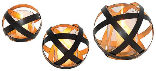 Drei Glas-Windlichter im Set