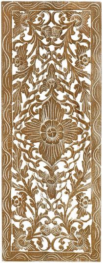 "Wandrelief ""Ornament"" nach burmesischem Vorbild, Holz"