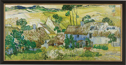 "Painting ""Farms near Auvers"" (1890) in a frame"