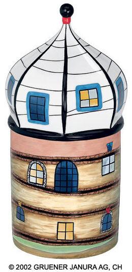 """Friedensreich Hundertwasser: Porzellanobjekt """"Sedimentturm"""""""