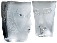 "2-Piece Set Water Glasses ""Kubik and Electra"", Version in White"