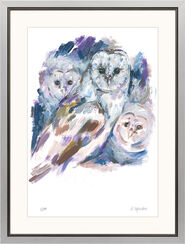 "Painting ""The Family of the Barn Owls"""