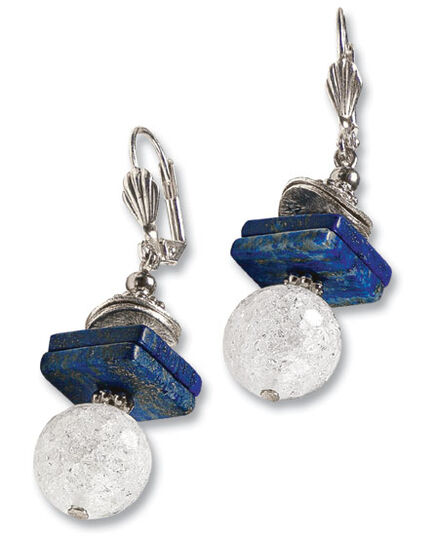"Anna Mütz: Earrings ""Lapis"""