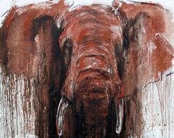 "Bild ""Elefant 33"" (2012) (Unikat)"